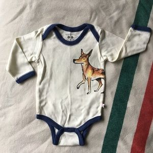 BabySoy wolf print onesie